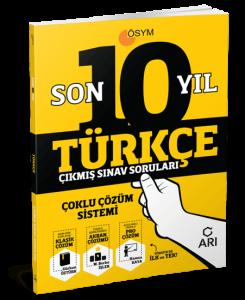Türkçe Son 10 Yıl Çıkmış Sınav Soruları (Çoklu Çözüm Sistemi) 2021 Arı Yayınıcılık