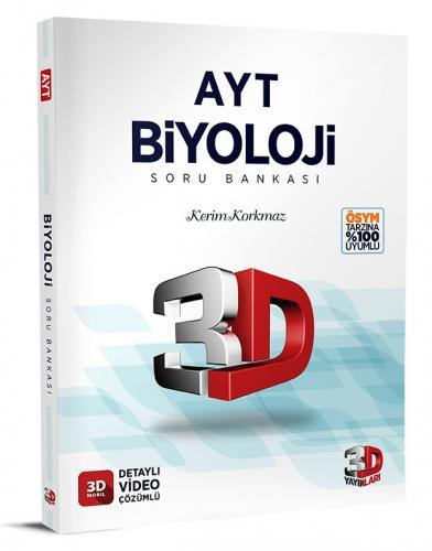 3D Yayınları AYT Biyoloji Soru Bankası Tamamı Video Çözümlü Kerim Korkmaz