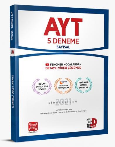 3D Yayınları AYT 5'li Sayısal Deneme Tamamı Video Çözümlü